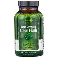 """Irwin Naturals, """"Усиленное промывание кишечника"""", сильнодействующее слабительное, 60 мягких желатиновых капсул с жидкостью, IRW-58635"""