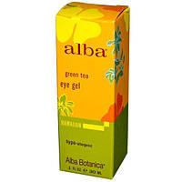 Alba Botanica, Гель для кожи вокруг глаз с зеленым чаем, 1 жидкая унция (30 мл), ALB-00816