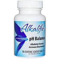 Alkalife, рН Balance, 90 таблеток, покрытых кишечнорастворимой оболочкой, AKF-00888