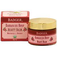 Badger Company, Бальзам для кожи, дамасская роза, 1 унция (28 г), WSB-27002