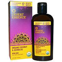 Desert Essence, Органическое масло кокоса &  жожоба, 4 унции (118 мл), DES-33130