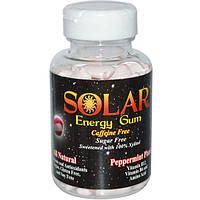 B-Fresh Inc., Solar, энергетическая жевательная резинка, планета перечной мяты, 100 штук, BFR-00182