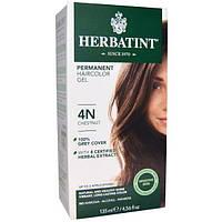 Herbatint, Перманентная растительная краска-гель для волос, 4N, каштан, 4,56 жидкой унции (135 мл), HVN-00103
