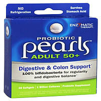 Enzymatic Therapy, Пробиотик Pearls для взрослых 50+, 30 капсул, EMT-10510