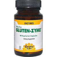 Country Life, Gluten-Zyme, 60 вегетарианских капсул, CLF-05386