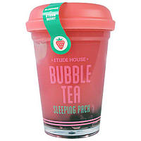 Etude House, Bubble Tea, ночная маска с клубникой, 3.5 унции(100 г), ETU-43626