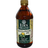 Eden Foods, Органическое сафлоровое масло, нерафинированное, 16 жидких унций (473 мл), EDN-00018