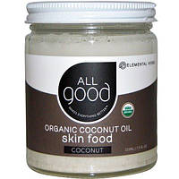 All Good Products, Органическое кокосовое масло, питание кожи, кокос, 7.5 ж.унций (222 мл), ELH-08953