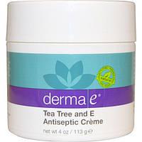 Derma E, Антибактериальный крем для лица с маслом чайного дерева и витамином Е, 4 унции (113 г), DME-09125