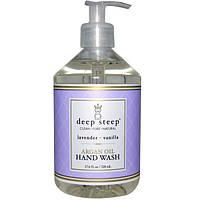 Deep Steep, Средство для мытья рук с аргановым маслом, ваниль и лаванда, 17.6 жидких унций (520 мл), DEE-10061