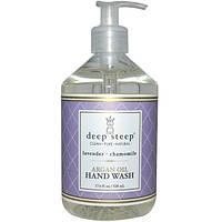 Deep Steep, Средство для мытья рук с аргановым маслом, лаванда и ромашка, 17.6 жидких унций (520 мл), DEE-10054