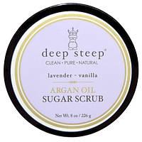 Deep Steep, Сахарный скраб с аргановым маслом, Лаванда - Лилия, 8 унций (226 г), DEE-10154