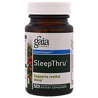 Gaia Herbs, SleepThru, 30 вегетарианских жидких фито-капсул, GAI-14587