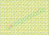 Фетр с принтом АНАНАСЫ, 22x30 см, корейский мягкий 1.2 мм