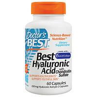 Doctor's Best, Гиалуроновая кислота + сульфат хондроитина, 60 желатиновых капсул, DRB-00146