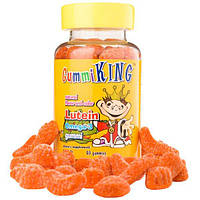 Gummi King, Жевательный мармелад Лютеин Омега-3, 60 жевательных мармеладок, GUM-00012
