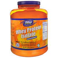 Now Foods, Изолят сывороточного протеина для спортсменов с натуральным вкусом, 5 фунтов (2268 г), NOW-02174