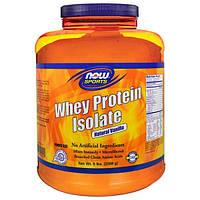 Now Foods, Спорт, Изолят Сывороточного Протеина, Натуральная Ваниль, 5 фунтов. (2268 г), NOW-02159