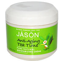 Jason Natural, Anti-Aging Tea Time, увлажняющий крем, 4 унции (113 г) (Discontinued Item), JAS-05072