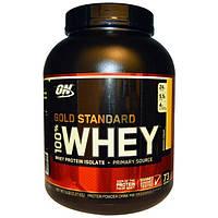 Optimum Nutrition, 100% Whey Gold Standard, со вкусом банана, 5 фунтов (2,27 кг), OPN-02957