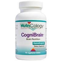 Nutricology, КогниБрейн, питание мозга, 90 вегетарианских таблеток (Discontinued Item), ARG-57010