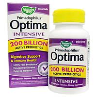 Nature's Way, Высокоактивный пробиотик Primadophilus Optima, 30 растительных капсул, NWY-10640