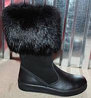 Сапоги зима для девочки из натуральной кожи от производителя модель ДС - 37Ч