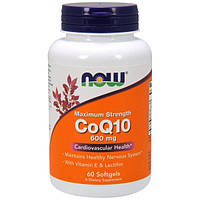 Now Foods, CoQ10, With Vitamin E & Lecithin, 600 mg, 60 Softgels, NOW-03182