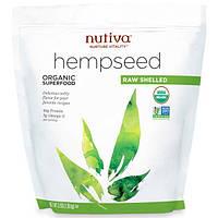 Nutiva, Органическое конопляное семя, сырое и лущеное, 3 фунта (1,36 кг), NUT-10003