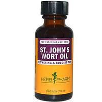 Herb Pharm, Масло зверобоя, 1 жидкая унция (29,6 мл), HBP-90082