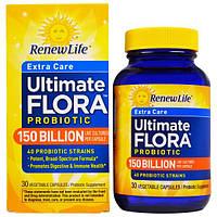 Renew Life, Пробиотик Ultimate Flora, 150 миллиардов, 30 вегетарианских капсул, REN-15670