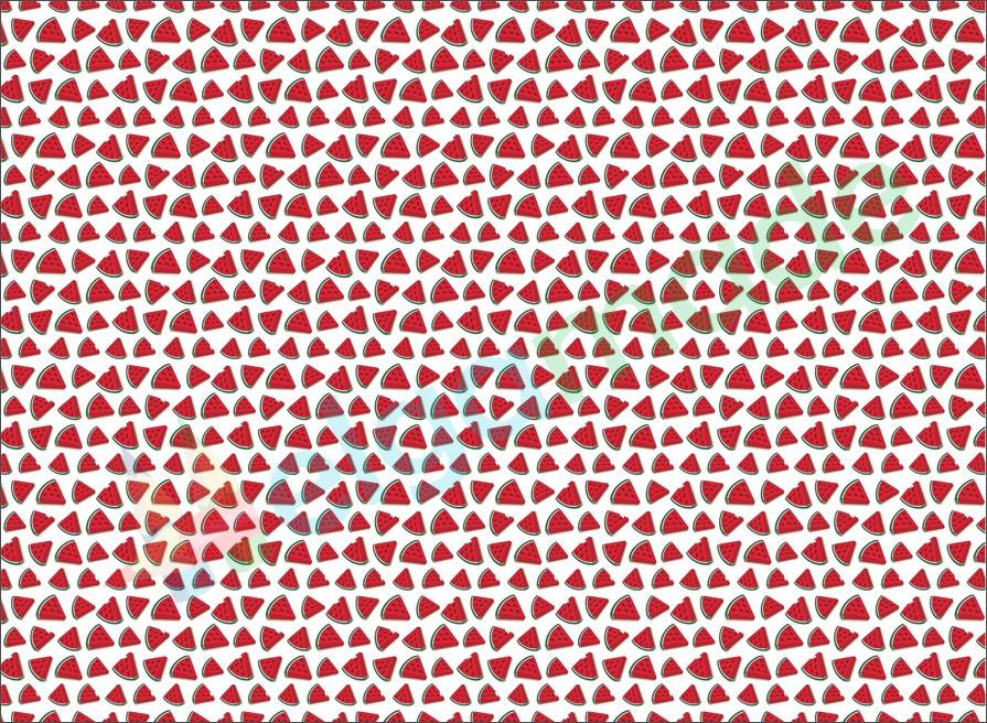 Фетр с принтом АРБУЗЫ, 22x30 см, корейский мягкий 1.2 мм