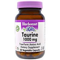 Bluebonnet Nutrition, Таурин, 1000 мг, 50 капсул в растительной оболочке, BLB-00087