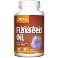 Jarrow Formulas, Натуральное масло семян льна, 1000 мг, 200 мягких капсул, JRW-11008
