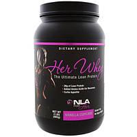 NLA for Her, Сыворотка для нее, высококачественный протеин для сухой мышечной массы, ванильный капкейк, 2 фунта (905 г), NLS-85325