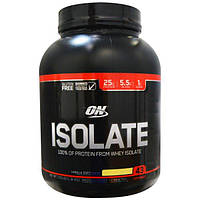 Optimum Nutrition, Изолят протеина, коктейль, ванильное мягкое мороженое, 3,03 фунта (1,38 кг), OPN-05448