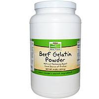 Now Foods, Желатин говяжий, порошок, 4 фунта (1814 г), NOW-06511