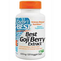 Doctor's Best, Лучший экстракт ягод Годжи, 600 мг, 120 вегетарианских капсул, DRB-00153