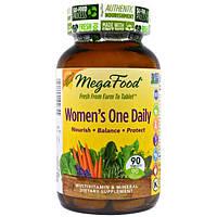 MegaFood, Цельнопищевой мультивитаминный и минеральный комплекс для женщин, 90 таблеток, MGF-10285