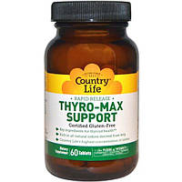 Country Life, Thyro-Max Support, 60 таблеток, CLF-01595