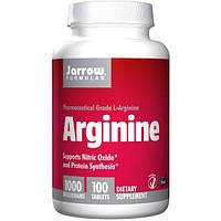 Jarrow Formulas, Аргинин, 1000 мг, 100 таблетки, JRW-15036