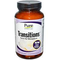 Pure Essence, Transitions, Травы для менопаузы 120 овощных капсул, PUR-00702