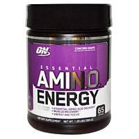 Optimum Nutrition, Энергия незаменимых аминокислот со вкусом винограда, 585г, OPN-02294
