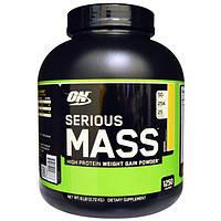 Optimum Nutrition, Serious Mass, белковый порошок для набора веса, банановый, 2,72 кг (6 фунтов), OPN-02886