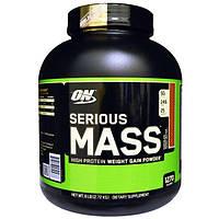 Optimum Nutrition, Serious Mass, высокопротеиновая добавка для наращивания веса, шоколад, арахисовое масло, 6 фунтов (2,72 кг), OPN-05143