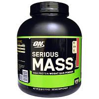 Optimum Nutrition, Порошок Serious Mass с высоким содержанием белка для набора веса, со вкусом клубники, 2,72 кг, OPN-02301