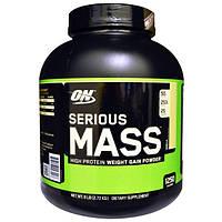 Optimum Nutrition, Порошок Serious Mass с высоким содержанием белка для набора веса, со вкусом ванили, 2,72 кг, OPN-02300