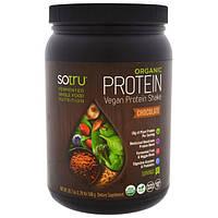 SoTru, Органический протеиновый коктейль, вкус шоколада, 588 г (20,7 унции), STU-00236