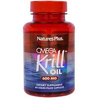 Nature's Plus, Омега крилевый жир, 600 мг, 60 капсул с жидкостью, NAP-03972