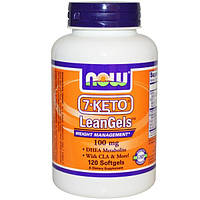 Now Foods, 7-Keto LeanGels, 100 мг, 120 гелевых капсул, NOW-03024